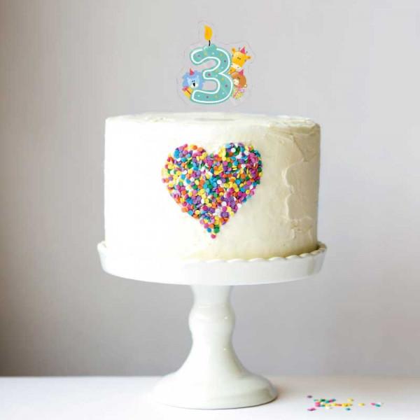 Cake Topper Kinderzahl 3