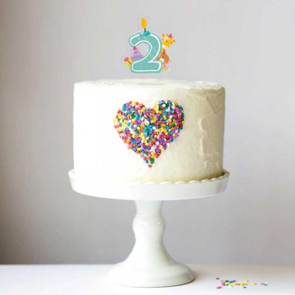 Cake Topper Kinderzahl 2