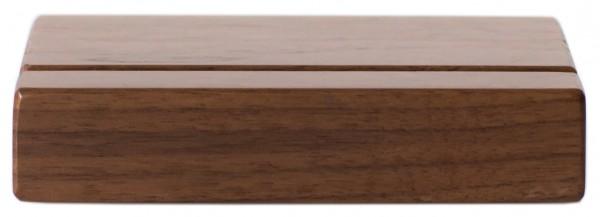 Motivsockel Nussbaumholz 10 cm Breite mit 1 Nut