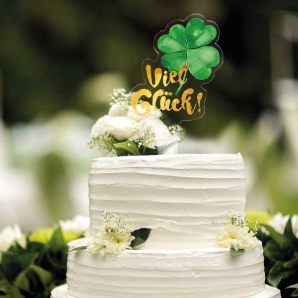 Cake Topper Viel Glück