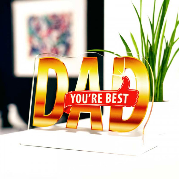 Dekoaufsteller Best Dad