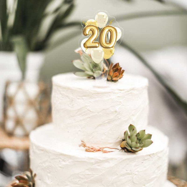 Cake Topper 20. Geburtstag