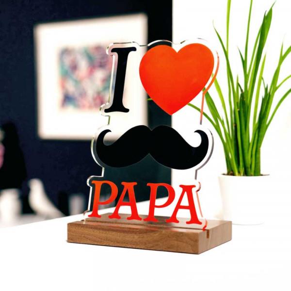 Dekoaufsteller I love Papa