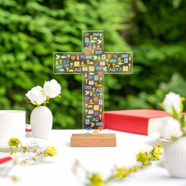 Dekoaufsteller Kreuz