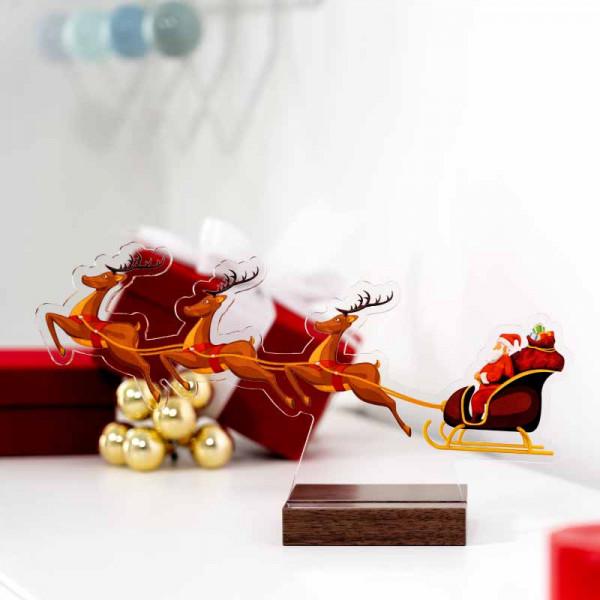 Dekoaufsteller Weihnachtsschlitten