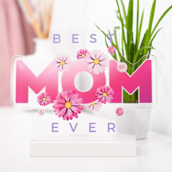 Dekoaufsteller Best Mom Blumen