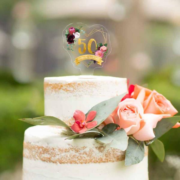 Cake Topper Goldene Hochzeit 50 Jahre