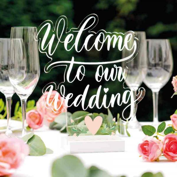 Dekoaufsteller Welcome to our Wedding