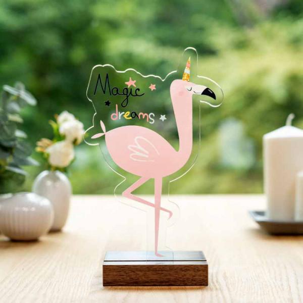 Dekoaufsteller Flamingo